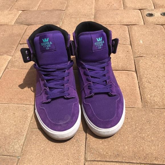 137c58f72d Supra Shoes | Practically New Rare Vaiders Purple High Top | Poshmark